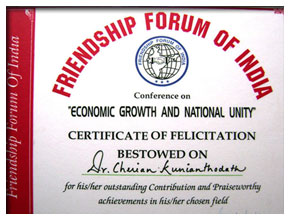 Certificate of Felicitation